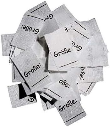 25 Textiletiketten Größe 62//68 auf Mischband