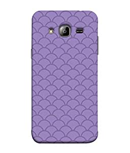 ColorKing Samsung J3 2016 Case Shell Cover - Waves Purple