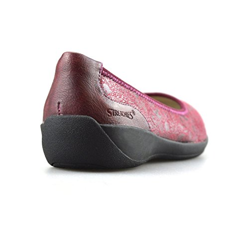 STRETCHIES Ladies Womens New Casual Flat Slip on Comfort Walking Summer Pumps Shoes Wine Wide UgD0MtG