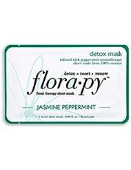 Florapy Beauty Detox Sheet Aromatherapy Mask, Jasmine Peppermint