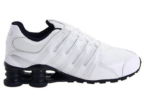 more photos d75da 67b99 Nike Shox NZ 2.0 (GS) Big Kids White/Onsidian Boys Shoes ...