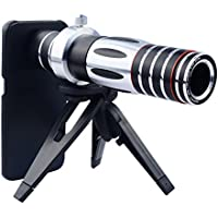 Apexel 5X-15X Optical Zoom Manual Focus Telephoto Telescope Camera Phone Lens with Tripod Holder/ Hard Cover Case for Samsung Galaxy S6 Edge