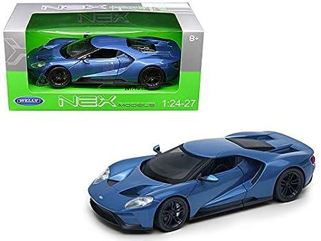 Welly    Blue Ford Gtcast Model Car