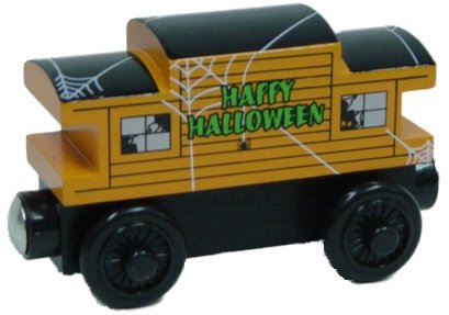 Thomas & Friends Orange Haunted Halloween Caboose Wooden Railway Tank Train Engine Loose ()