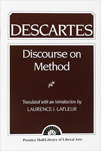 Descartes discourse on method essay help