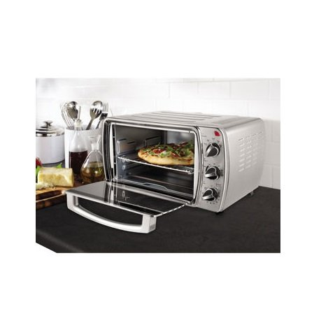Oster 6-Slice Convection Countertop Oven, Brushed Stainless Steel ...