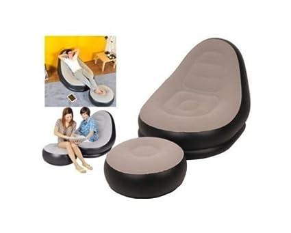 Fineway. New Style chaise gonfiabile gioco sport campeggio divano sedia a sdraio rilassante, DELUXE LOUNGER
