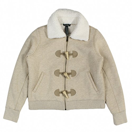 Shearling Toggle Jacket (Lauren Jean Co. Women's Faux-Fur Toggle Jacket Medium Cream Heather)