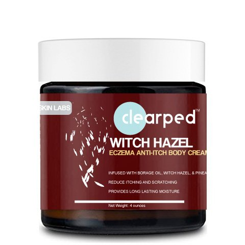 Clearped Witch Hazel Anti-Itch Eczema Cream,Steroid-Free