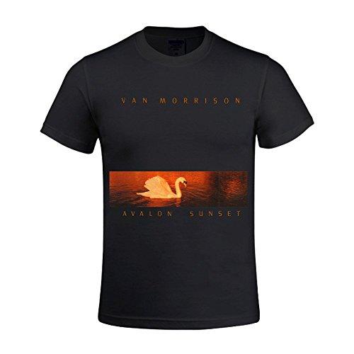 Van Morrison Avalon Sunset Men's O-Neck Cotton T-Shirt Black (Aerosmith Van)