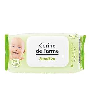 lingettes sensitive au calendula bio pour bebe avec devidoir x62