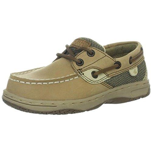 Sperry Bluefish Boat Shoe , Linen/Oat, 10 M US Toddler