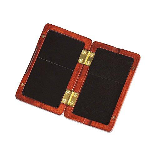 ammoon Solid Wood Reed Case Wooden Holder Box for Tenor/ Alto/ Soprano Saxophone Clarinet Reeds, 2pcs Capacity