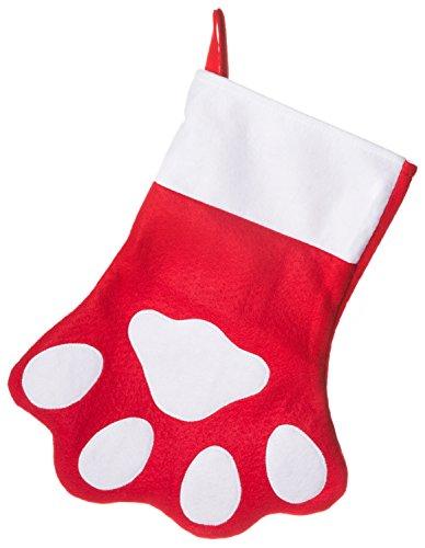 Red Felt Paw Christmas Stocking 15