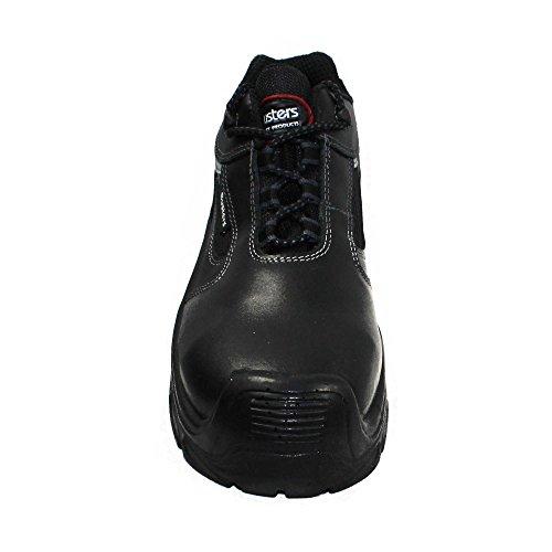 Busters - Calzado de protección de Piel para hombre Negro negro Negro - negro
