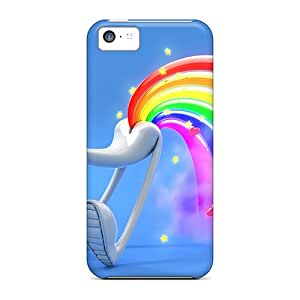 Browncases Fashionable WVCv-29-Fp Rainbow Fart Case Cover Skin For Iphone 5c