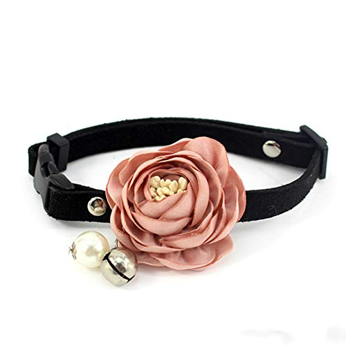 Entaifeng Cat Collar Adjustable Imitation Belt Bell Dog Collar and Soft Comfortable Bow Pet Collar for Party Holiday Decoration Accessories (7.9