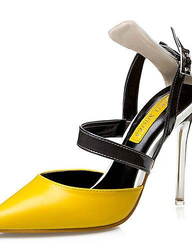 De us6 Cn36 casual Black negro tacones 5 pu Eu36 us5 Cn35 5 Black Mujer Uk3 Amarillo tac¨®n Zapatos Stiletto tacones Rosa Zq Uk4 5O0Fa