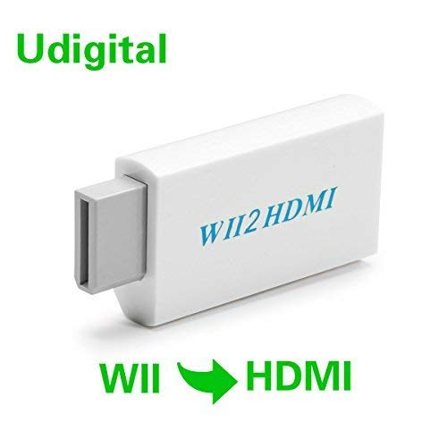 Wii to HDMI Converter with 3.5mm Video Audio Output Adapter,Supports All Wii Display Modes to 720P / 1080P HDTV & Monitor, Best Compatibility and Stability for Nintendo WII U ()
