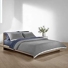 Calvin Klein Home Harrison Indigo Flat Sheet, Queen