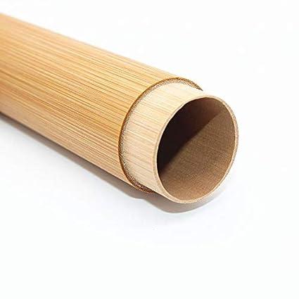 Estuche de Almacenamiento port/átil para Viaje Viajar Tubo de bamb/ú Respetuoso con el Medio Ambiente Adulto Lalaoo Soporte para cepillos de Dientes
