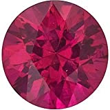 Loose Ruby Gem, Round Shape Diamond Cut, Grade A, 3.75 mm in Size, 0.23 Carats