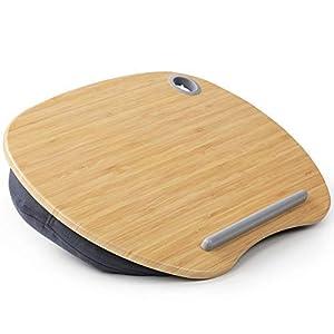 HUANUO Support pour Ordinateur Portable avec Coussin et Plate-Forme en Bambou sur Le Lit et Le Canapé, Bureau de Genou…
