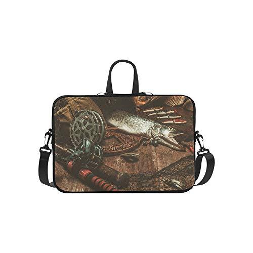 Leisure and Entertainment Pattern Briefcase Laptop Bag Messenger Shoulder Work Bag Crossbody Handbag for Business Travelling