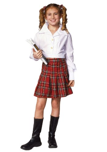 School Girl Top & Skirt Child Costume - 1
