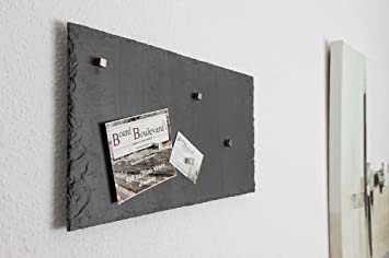 Magnetic Notice Board Slate Real Stone) Poster Board In 30 Cm X 20 Cm