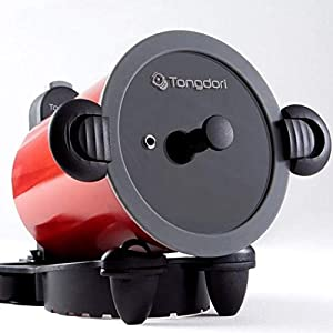 TONGDORI Oven, Wireless Oven, Gas Stove, Self-Rotating Oven, Korean BBQ Grill Baked 20 Minutes Complete, Camping Grill Meat Roasting Revolution of the Oven