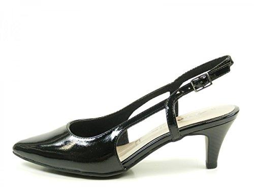 Tamaris 1-29601-28 Schuhe Damen Sling Pumps Sandalen Schwarz