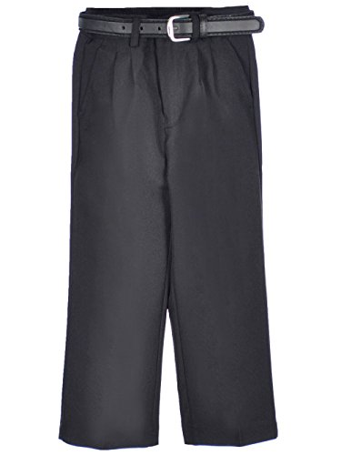 Vittorino Little Boys' Toddler Pleated Belted Dress Pants - black, 3t (Boys Pleated Dress Pants)