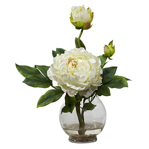 Peony-with-Fluted-Vase-Silk-Flower-Arrangement
