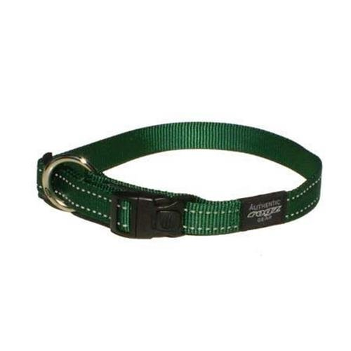 Rogz Utility Snake Green Dog collar - Medium