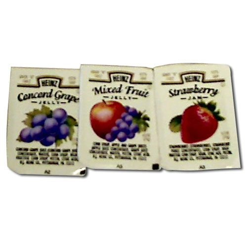 Assorted Jam (Jelly Assorted no.5 Single Serve Cup 200 Case .5 Ounce)