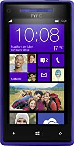 "HTC Windows Phone 8X - Smartphone libre Windows Phone (pantalla 4.3"", cámara 8 Mp, 16 GB, Dual-Core 1 GHz, 1 GB RAM), azul (importado)"