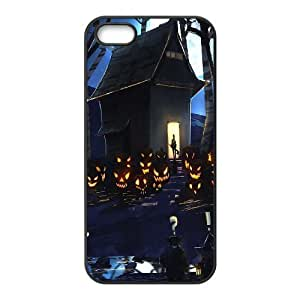 IPhone 5,5S Case Halloween House Painting for Women Protective, Iphone 5s Cases for Girls Protective Sexyass, {Black}