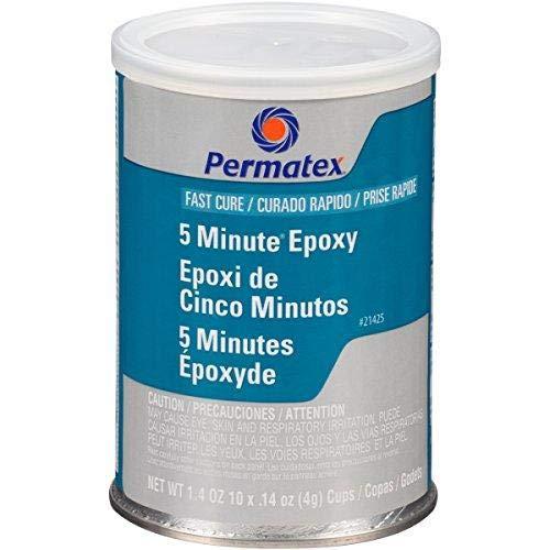 - Permatex 21425 Fast Cure Epoxy - Ten 4 g Mixer Cups