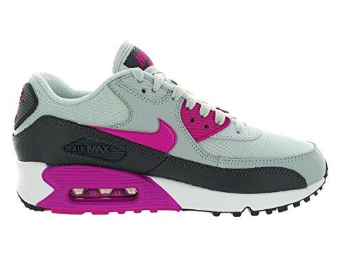 Nike Air Max 90 616730, Damen Low-Top Sneaker Grau (pure platinum-fuchsia flash-dark grey-white)