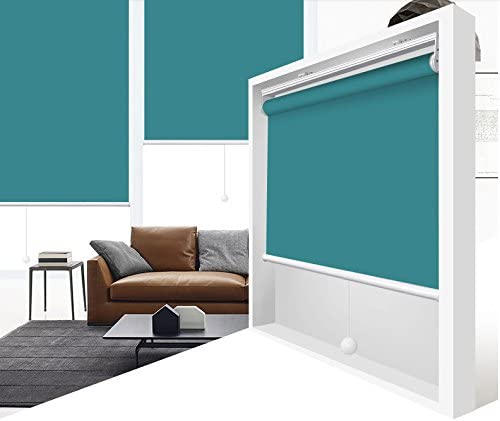 Hotel ZY Blinds Cordless Roller Shades 100/% Blackout Custom Made UV Protection Enery Saving Block 100/% Light Window Shades Blinds for Home Club Restaurant 22 W x 36 L Royal Blue