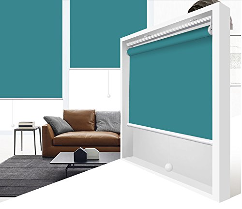 - ZY Blinds Cordless Roller Shades Light Filtering Custom Made Any Size from 20-78inch Wide UV Protection Enery Saving Window Shades Blinds for Home, Hotel, Club 28