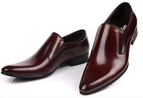 Hombres Negocio Cuero Vestir Soltero Zapatos Formal marrón Negro Boda Punta puntiaguda Oxfords británico Estilo Plano tamaño 37-45 wine red