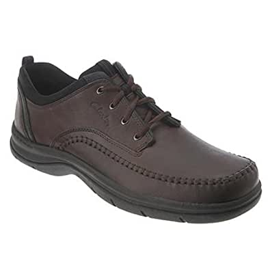 Clarks Mens Portland Brown - 10 4E US