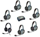 Eartec HUB7DMXD - 7 Person System with 6 Double and 1 Max4G Double Wireless Communication Headsets