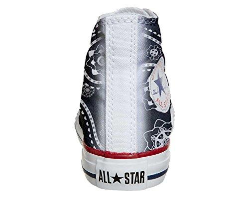 Converse PERSONALIZZATE All Star Hi Canvas, Sneaker Uomo/Donna (Prodotto Artigianale) Black Paisley