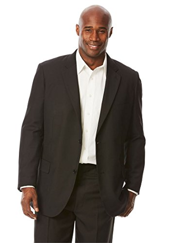 KingSize Men's Big & Tall Performance Pinstriped Blazer, Black Big-54 Big Tall Blazer