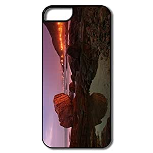 IPhone 5 Cases, Big Rock Cases For Samsung Galaxy S5 I9600/G9006/G9008 - White/black Hard Plastic