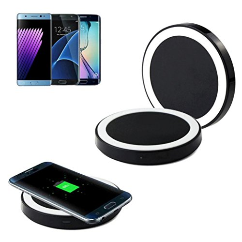 Price comparison product image Qi Wireless Charger, Yoyorule Wireless Power Charger Charging Pad for Samsung Galaxy Note 5 S7 S7 Edge S6 Edge Plus (White)