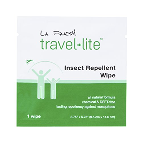 La Fresh Mosquito Repellent Wipes, Individually Wrapped – Natural, Deet Free, Non Toxic, Long Lasting Repellent Protects Against Almost All Bugs (48 Packets)
